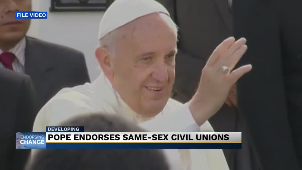 Pope endorses same-sex civil unions